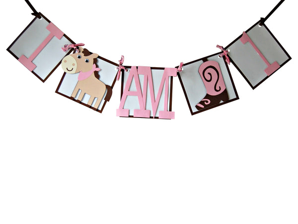 Cowgirl Mini Banner (I am 1) - We Bring the Party - 1