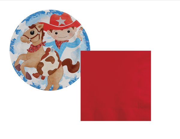 Cowboy Party Plates/Napkins - We Bring the Party