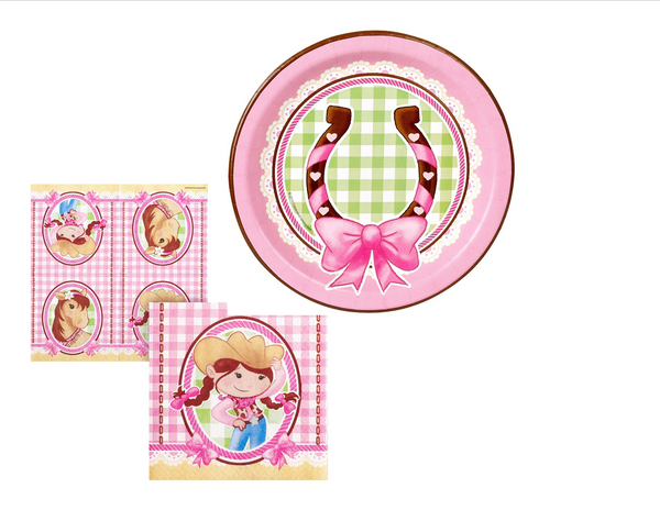 Cowgirl Plates/Napkins - We Bring the Party