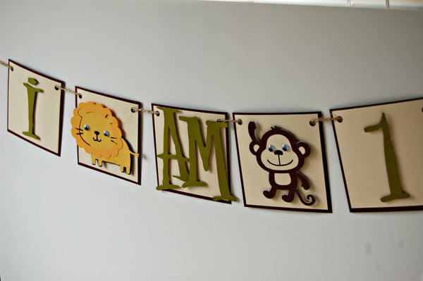 Zoo Animal Mini Banner, Safari High Chair Banner - We Bring the Party - 1