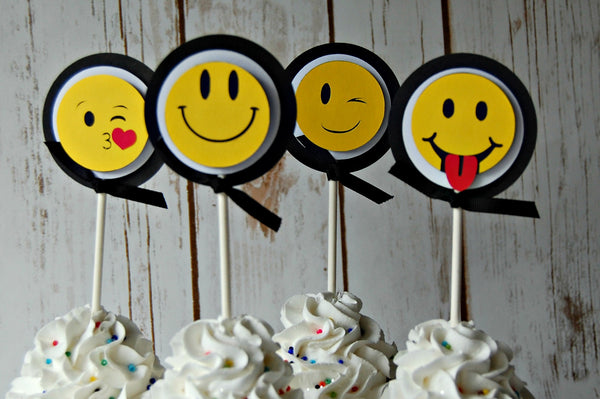 Emoji Cupcake Toppers - We Bring the Party