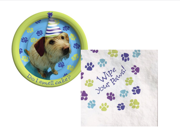 Party Pups Plates/Napkins - We Bring the Party