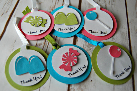Candy Themed Favor Tags (set of 12) - We Bring the Party
