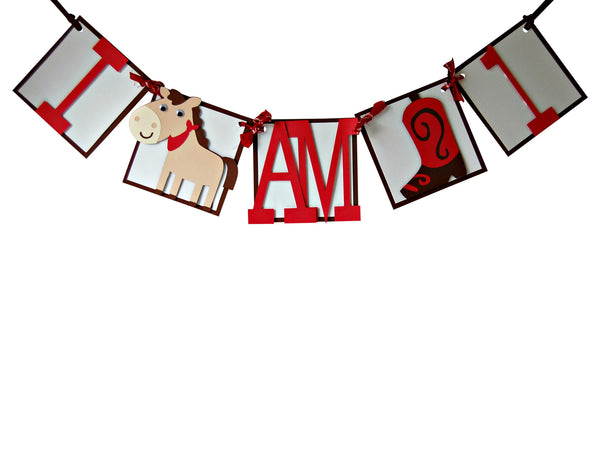 Cowboy Mini Banner - We Bring the Party - 1