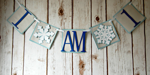 Snow Flake Theme Mini Banner - We Bring the Party