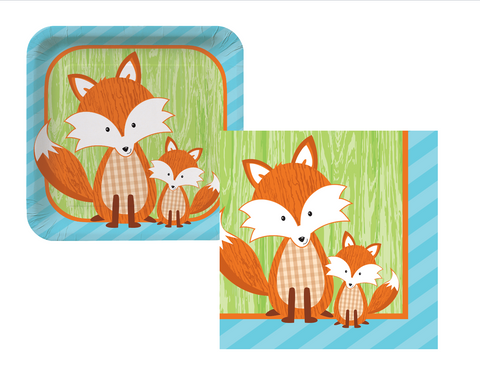 Woodland Fox Plates/Napkins - We Bring the Party