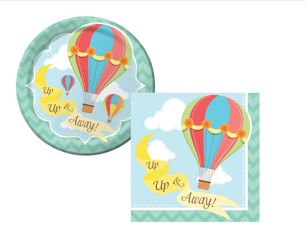 Hot Air Balloons Plates/Napkins - We Bring the Party