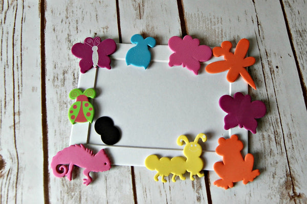 Backyard Bugs Themed Craft Kit, Magnet Craft, Insect Party Activity, Children's Crafts, Picture Frame