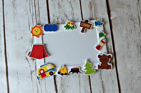 Camping Themed Craft Kit, Magnet Craft, Camp Out Party Activity, Children's Crafts, Picture Frame