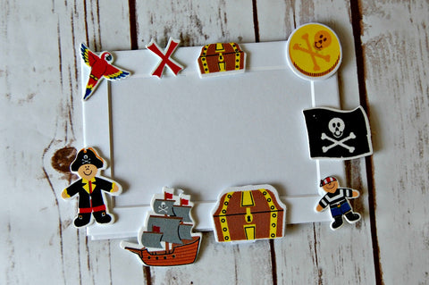 Pirate Themed Craft Kit, Magnet Craft, Party Activity, Children's Crafts, Picture Frame