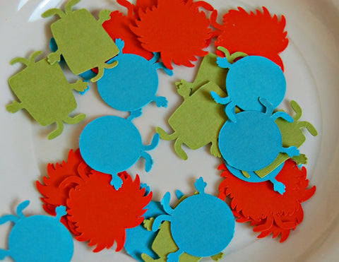 Mini Monster Themed Birthday Party Confetti - Silly Monsters Party Decorations (100 pieces)