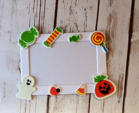 Halloween Themed Craft Kit, Magnet Craft, Candy Party Activity, Children's Crafts, Picture Frame