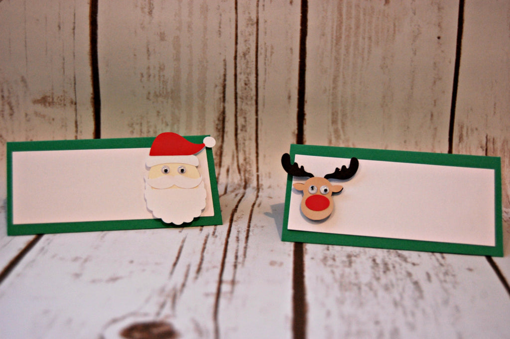 santa party food buffet name tags christmas party decor holiday birthday name tags