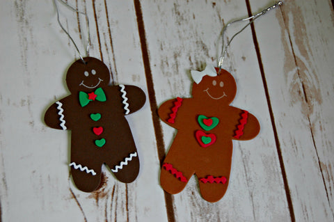 Gingerbread Ornament Craft Kit, Magnet Craft, Party Activity, Children's Crafts