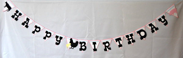 Vintage Chic Farmer's Party Banner, Farm Birthday Banner