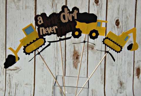 Construction Birthday Party Centerpiece, Workman Party Decorations, Trucks Birthday Centerpiece