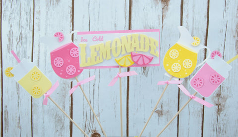 Pink Lemonade Birthday Party Centerpiece, Lemonade Stand Party Decorations