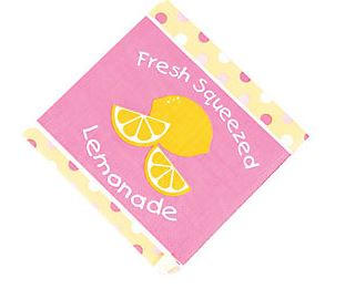Lemonade Beverage Napkins, Pink Lemonade Dessert Napkins, Lemonade Stand Party Dinnerware