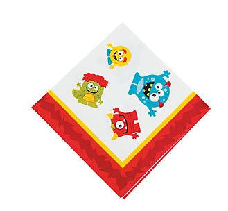 Mini Monster Beverage Napkins, Little Monsters Paper Napkins, Halloween Dinnerware, Dessert Napkins