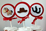 Cowboy Themed Birthday Party Cupcake Toppers - Western Party Decorations (set of 12) - We Bring the Party - 2