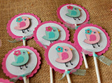 Baby Bird Birthday Party Cupcake Toppers (set of 12) - We Bring the Party - 3