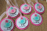 Baby Bird Themed Birthday Party Favor Tags (set of 12) - We Bring the Party - 2