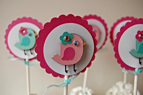 Baby Bird Birthday Party Cupcake Toppers (set of 12) - We Bring the Party - 1