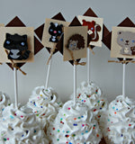 Forest Friends Birthday Party Cupcake Toppers (set of 12) - We Bring the Party - 2