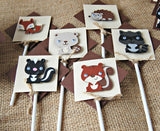 Forest Friends Birthday Party Cupcake Toppers (set of 12) - We Bring the Party - 4