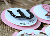 Cowgirl Theme Birthday Party Favor Tags (set of 12) - We Bring the Party - 3