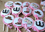 Cowgirl Themed Birthday Party Cupcake Toppers (set of 12) - We Bring the Party - 3