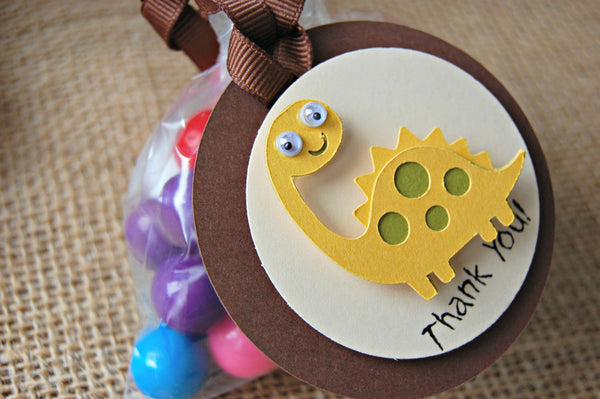 Dinosaur Themed Birthday Party Favor Tags (12) - We Bring the Party - 1