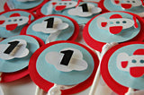 Airplane Pilot Birthday Party Cupcake Toppers (set of 12) - We Bring the Party - 3