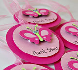 Butterfly Themed Birthday Party Favor Tags (12) - We Bring the Party - 3