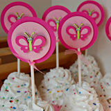 Butterfly Birthday Party Cupcake Toppers (set of 12) - We Bring the Party - 4