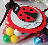 Ladybug Themed Birthday Party Favor Tags (set of 12) - We Bring the Party - 2