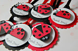 Ladybug Themed Birthday Party Favor Tags (set of 12) - We Bring the Party - 4