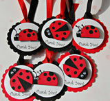 Ladybug Themed Birthday Party Favor Tags (set of 12) - We Bring the Party - 3