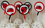 Ladybug Birthday Party Cupcake Toppers (set of 12) - We Bring the Party - 2