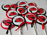 Ladybug Birthday Party Cupcake Toppers (set of 12) - We Bring the Party - 3