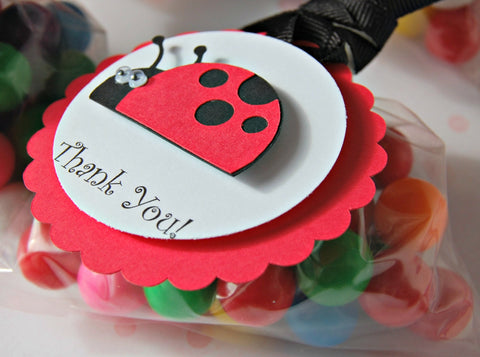Ladybug Themed Birthday Party Favor Tags (set of 12) - We Bring the Party - 1