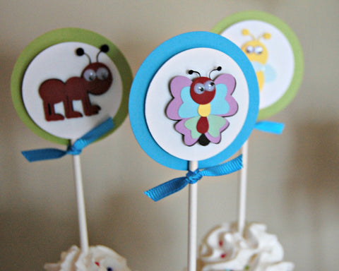 Bug Party Cupcake Toppers(set of 12) - We Bring the Party - 1