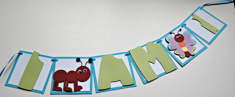 Bug Party High Chair Mini Banner, Insect Party Mini Banner - We Bring the Party - 1