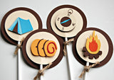 Camping Theme Birthday Party Cupcake Toppers (set of 12) - We Bring the Party - 2