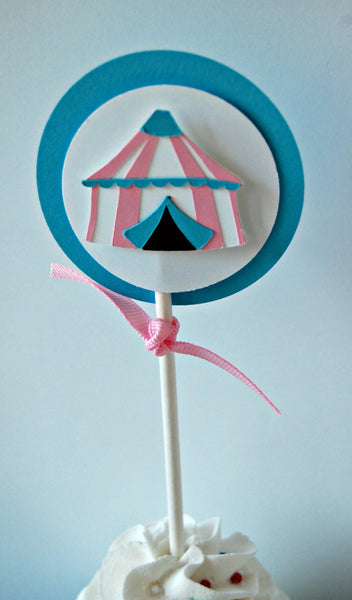 Girl Circus Party Cupcake Toppers (set of 12) - We Bring the Party - 1