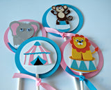 Girl Circus Party Cupcake Toppers (set of 12) - We Bring the Party - 2