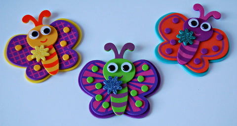 Foam Butterfly Craft Kit - We Bring the Party - 1