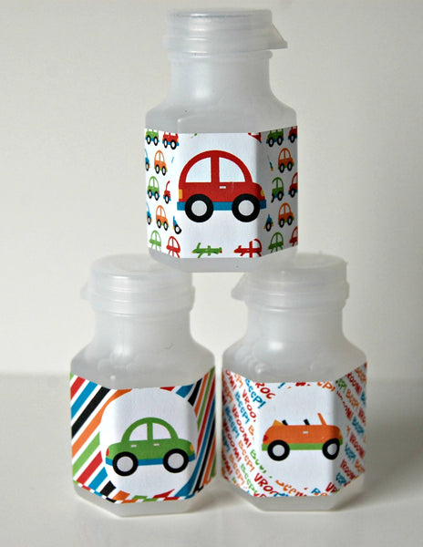 Cars Party Bubbles, Party Favor Bubbles, Cars Party Favor, Race Car Party Favors (set of 12)