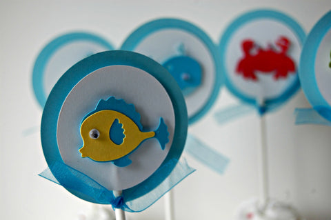 Ocean Party, Under the Sea Party Cupcake Toppers (set of 12) - We Bring the Party - 1