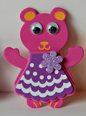 Foam Teddy Bear Craft Kit - We Bring the Party - 1